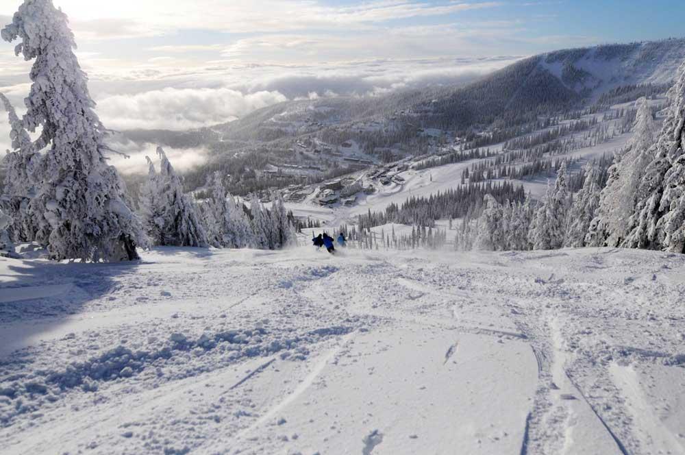 Piste im Skigebiet Schweitzer Mountain Resort