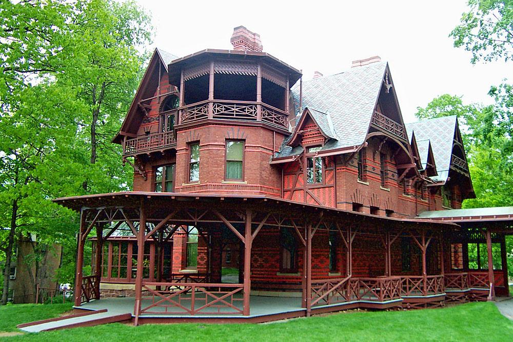 Außenansicht des Mark Twain-Hauses in Hartford