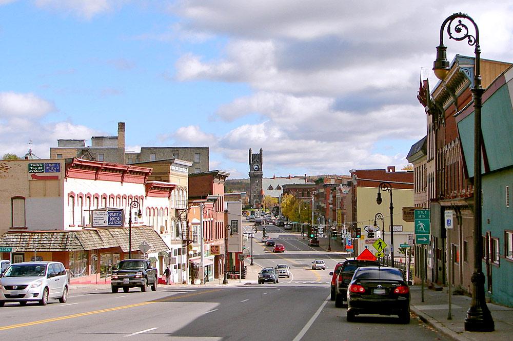 Blick auf die Main Street von Malone