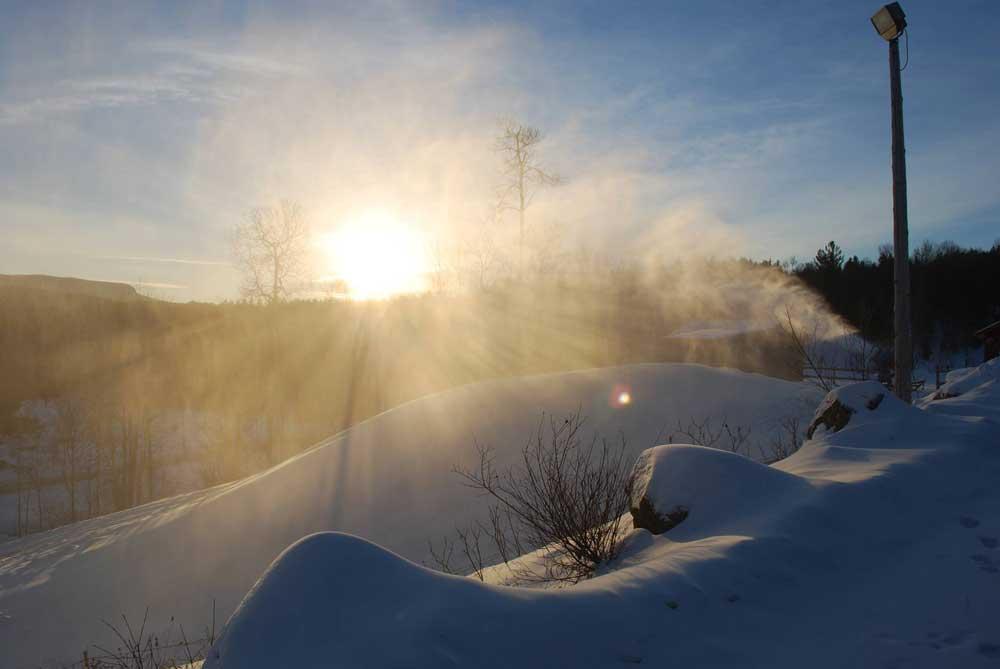 Blick ins das Skigebiet am Titus Mountain