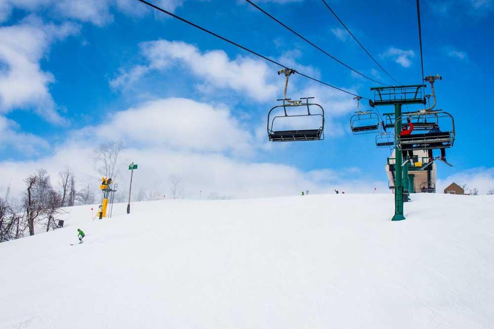 Piste im Skigebiet Whitetail