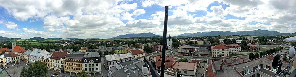 Panorama der Innenstadt von Frenstat pod Radhostem