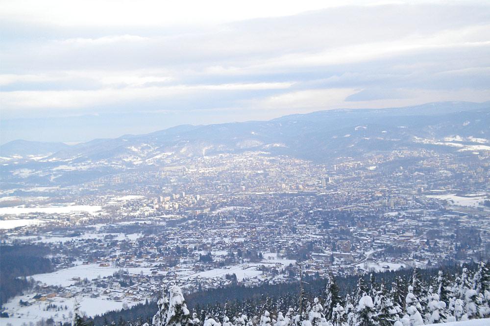 Blick vom Jested auf Liberec