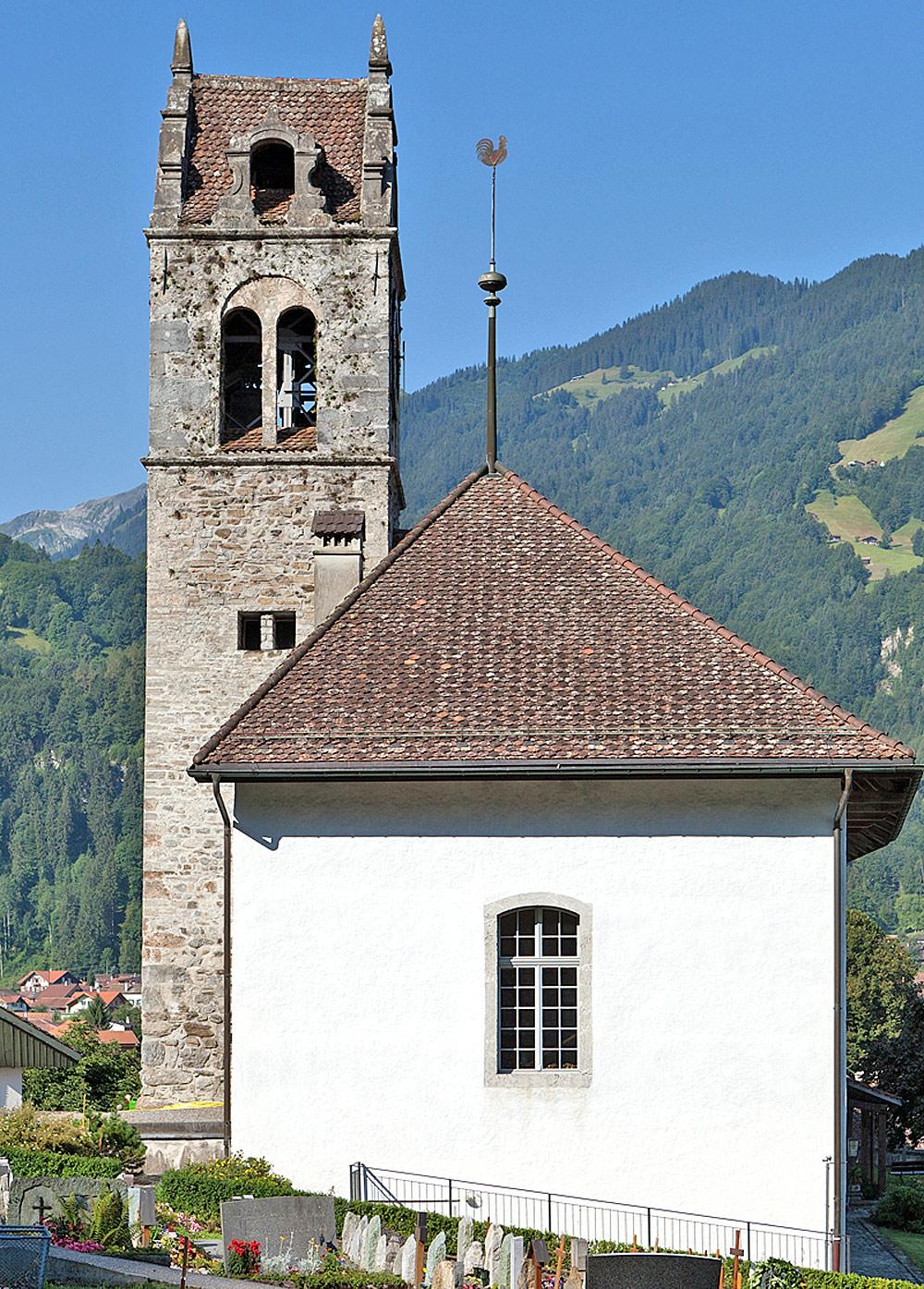 Außenansicht der Kirche in Gsteigwiler