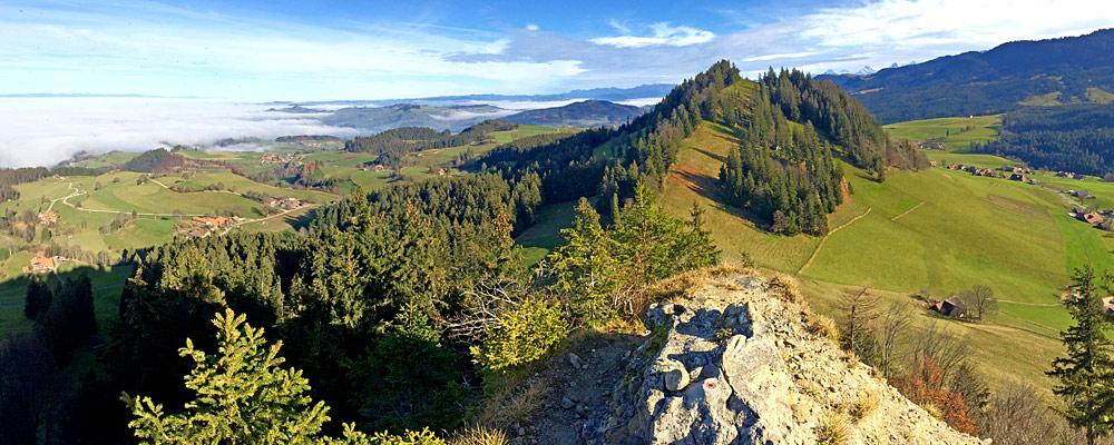 Ostpanorama des Guggershorns bei Guggisberg