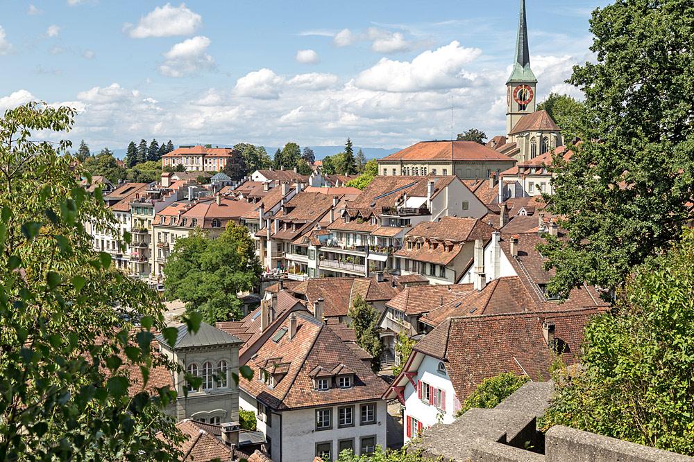 Blick vom Schloss in die Altstadt von Burgdorf