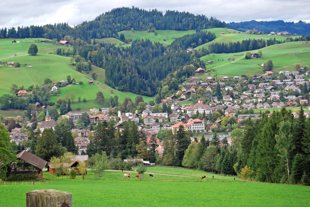 Blick auf Langnau im Emmental