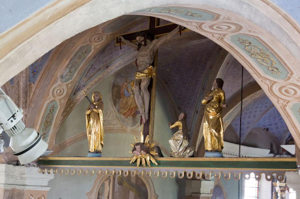 Der Balken des Ruhms der Saint-Jacques-Kirche von Assyrien