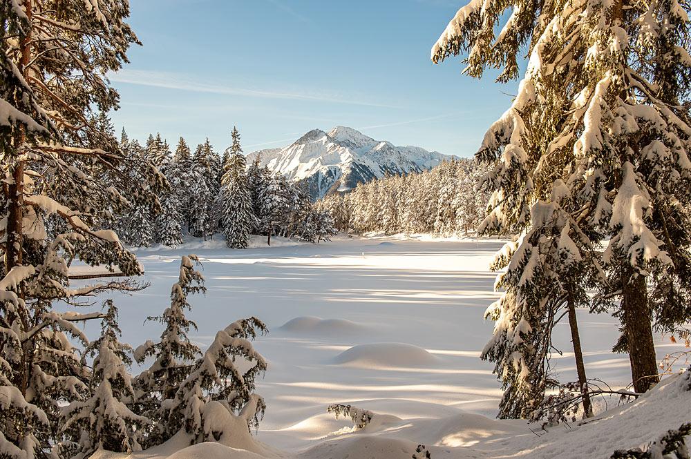 Winterwanderweg am Möserer See in der Olympiaregion Seefeld