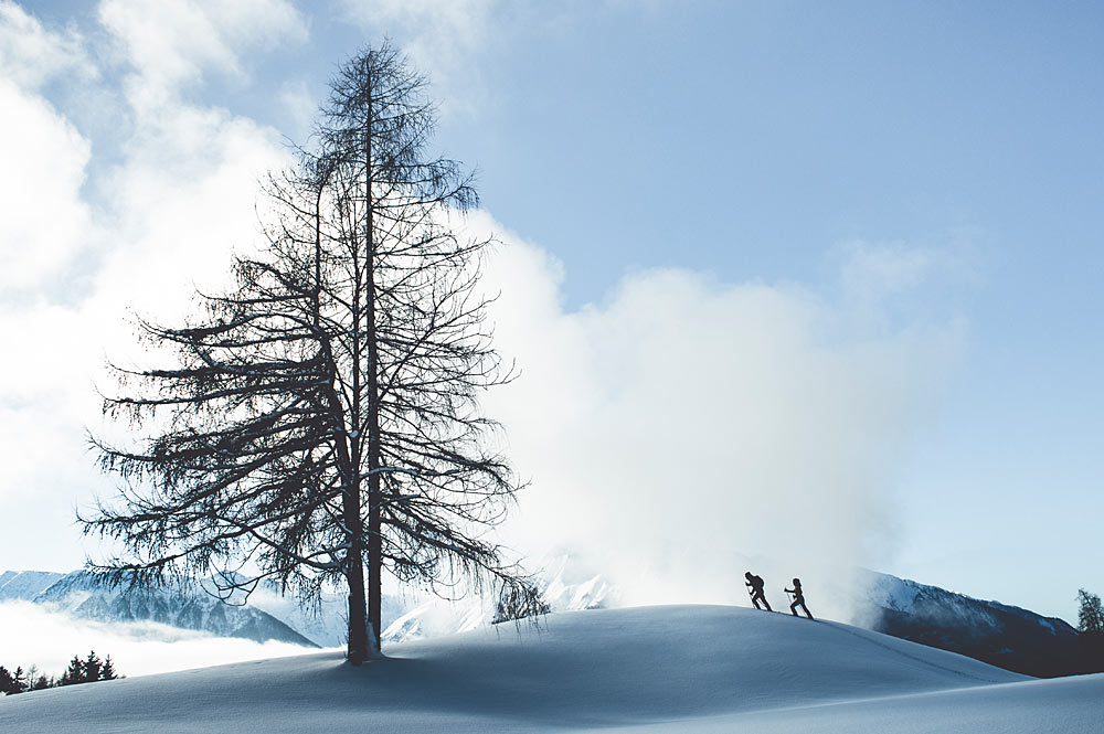 Winterwanderer in der Olympiaregion Seefeld