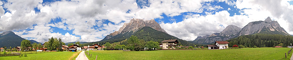 Panoramaansicht von Ehrwald