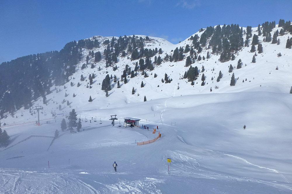 Piste im Skigebiet Imster Bergbahnen