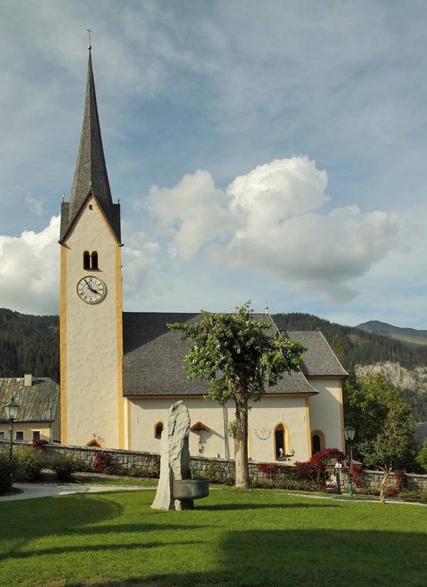 Blick auf die Kirche in Krimml