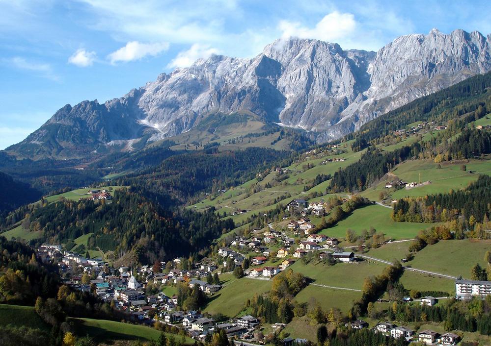 Blick auf Mühlbach am Hochkönig