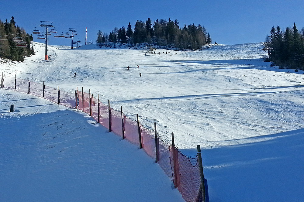 Rote Piste am Goldeck