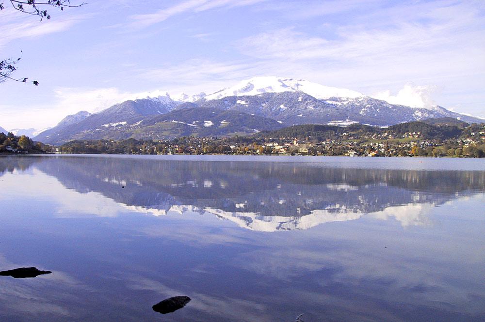 Blick auf Seeboden, das Gmeineck und den Millstätter See