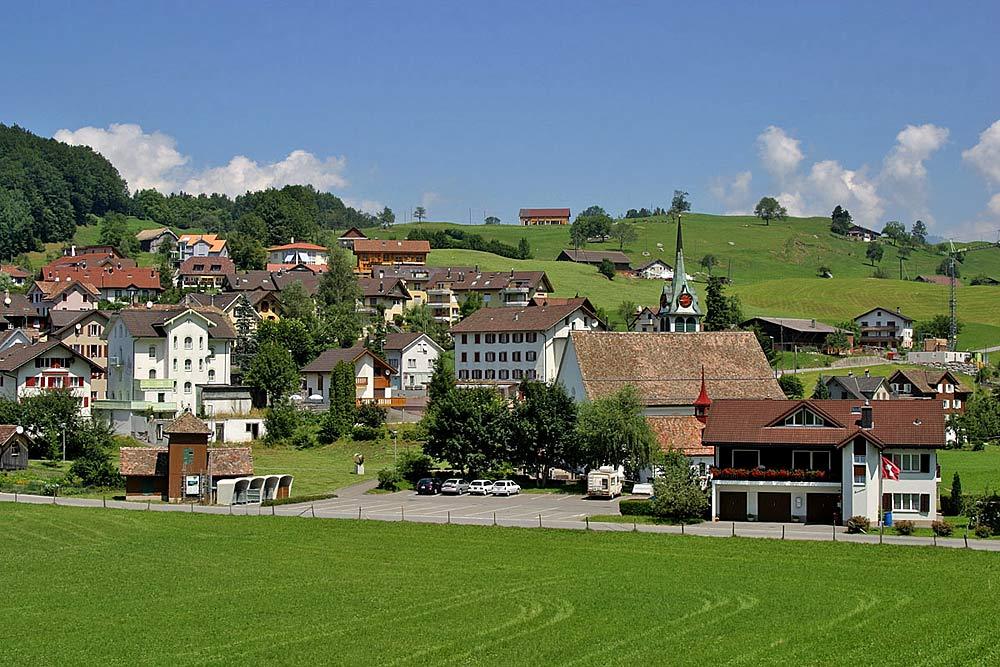 Blick auf die Gemeinde Morschach