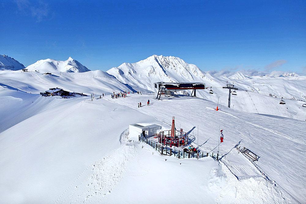 Bergstation im Skigebiet Kitzbühel und Kirchberg