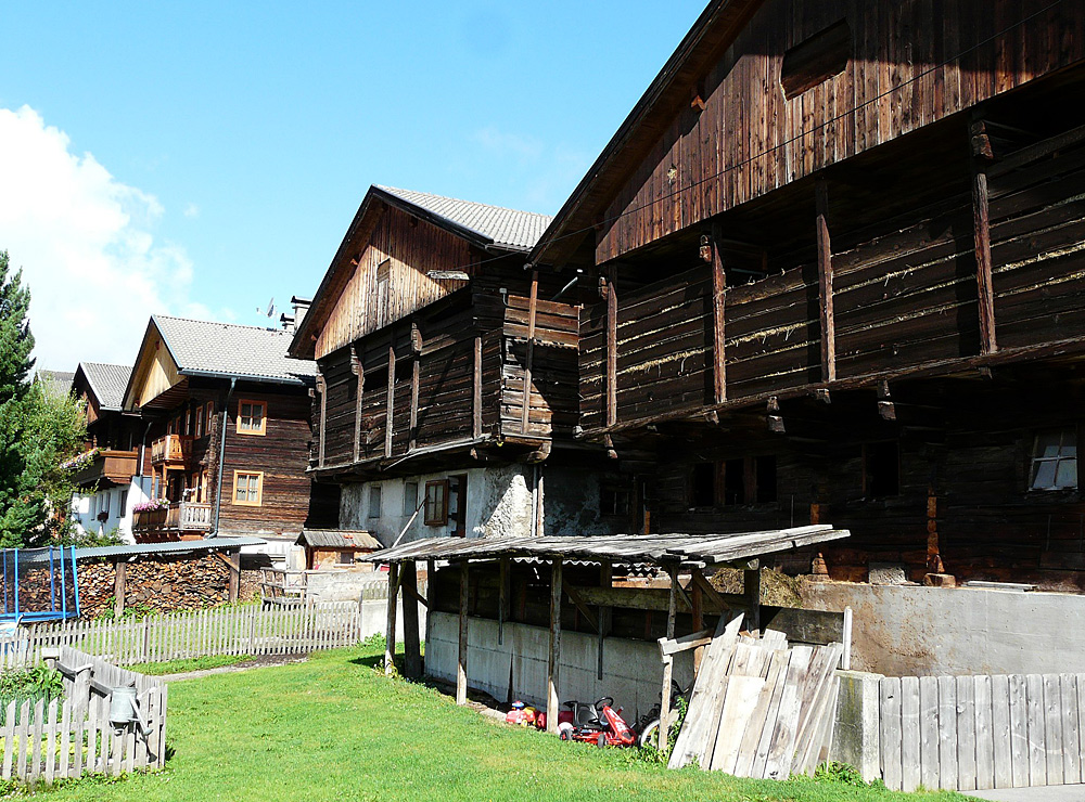 Bauernhäuser in Obertilliach