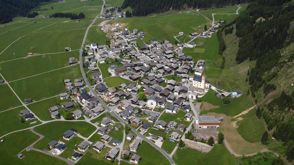 Luftaufnahme von Obertilliach