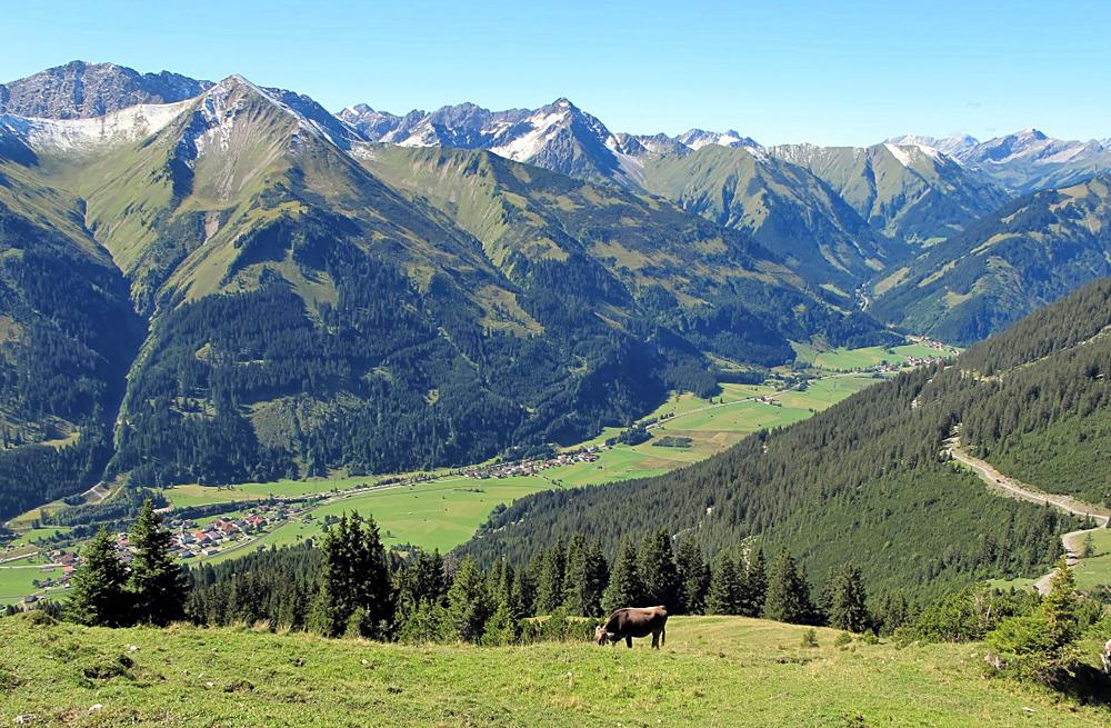 Blick auf Lähn und Wengle in der Gemeinde Bichlbach