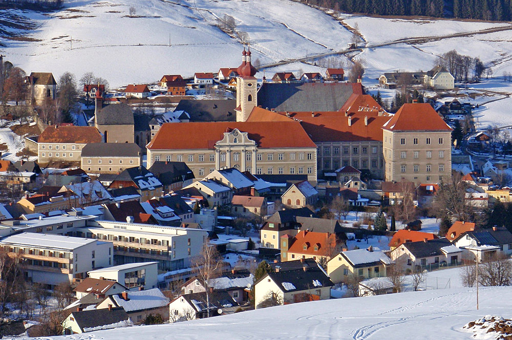 Blick auf das Benediktinerstift St. Lambrecht