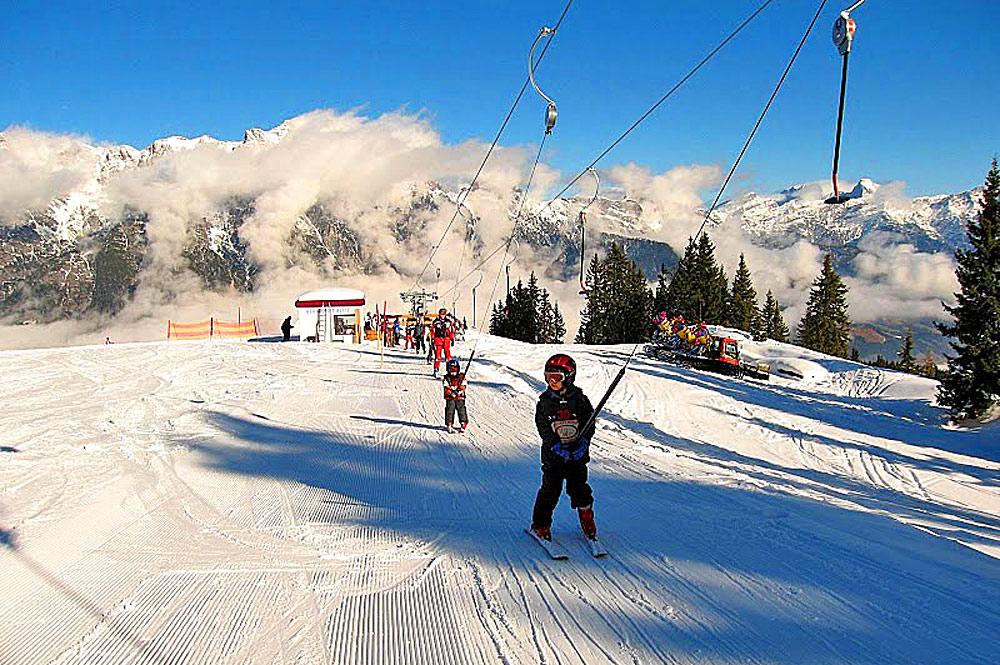 Skilift im Skigebiet Heutal-Lifte