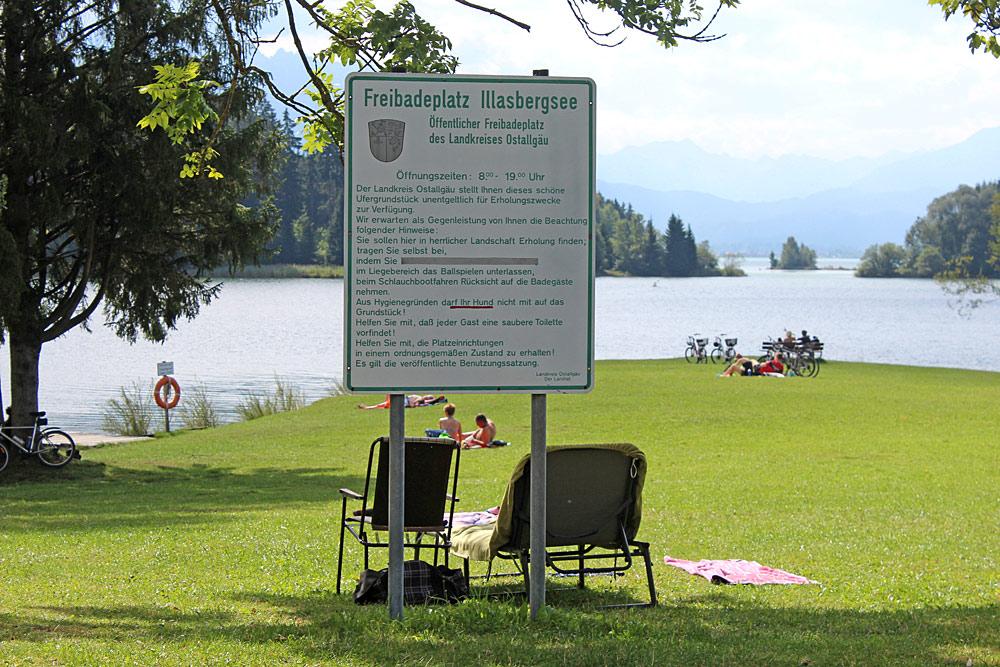 Badeplatz am Illasbergsee bei Halblech-Buching
