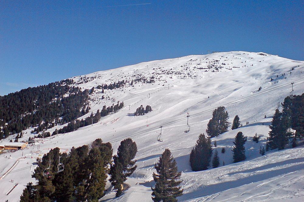 Blick ins Skigebiet Hochzeiger