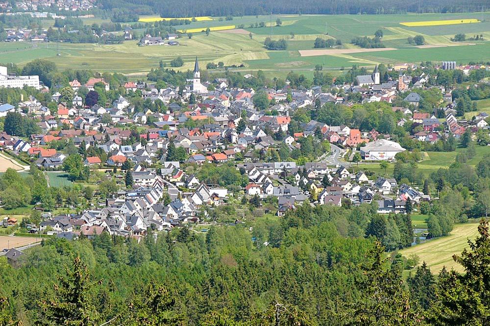 Blick vom Epprechtstein auf Kirchenlamitz