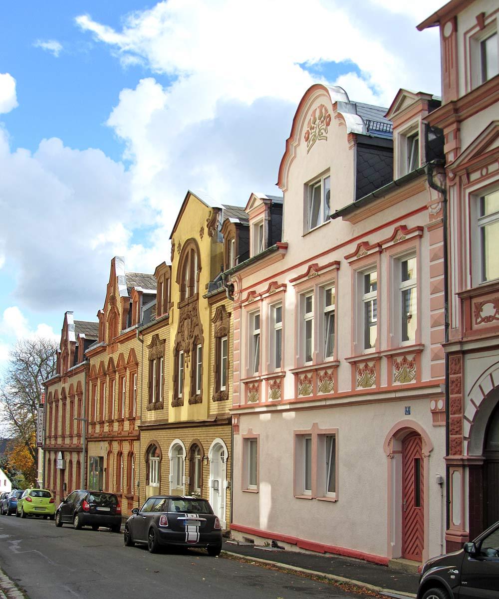 Historische Städthäuser in Schönwald/Bayern