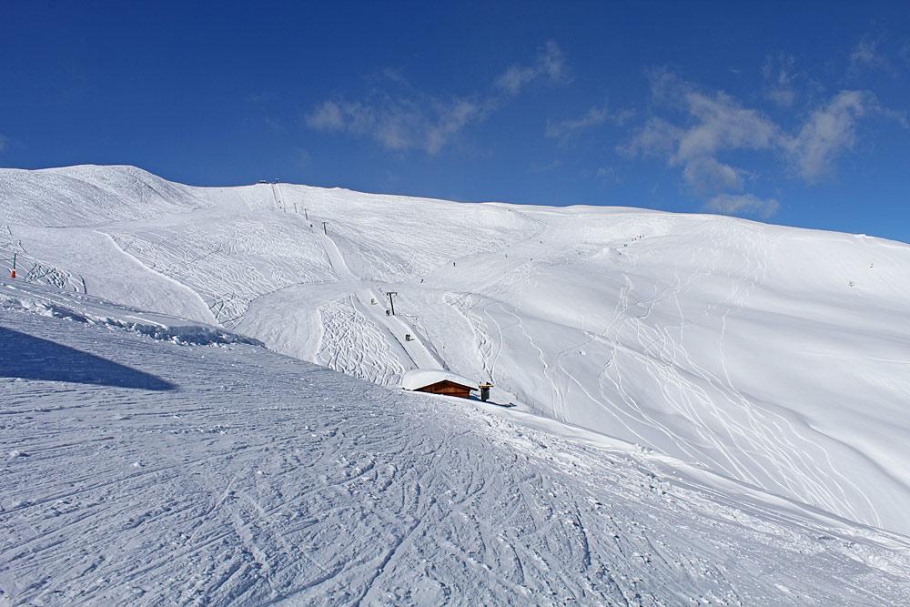 Piste im Skigebiet Golzentipp-Lesachtal