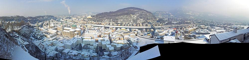 Panoramablick auf Salzburg