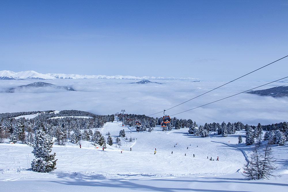 Panoramablick über das Skigebiet Kreischberg