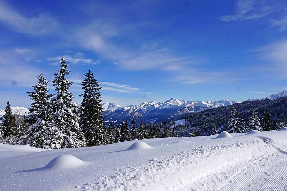 Unberührte Winterlandschaft im Skigebiet Ratschings-Jaufen