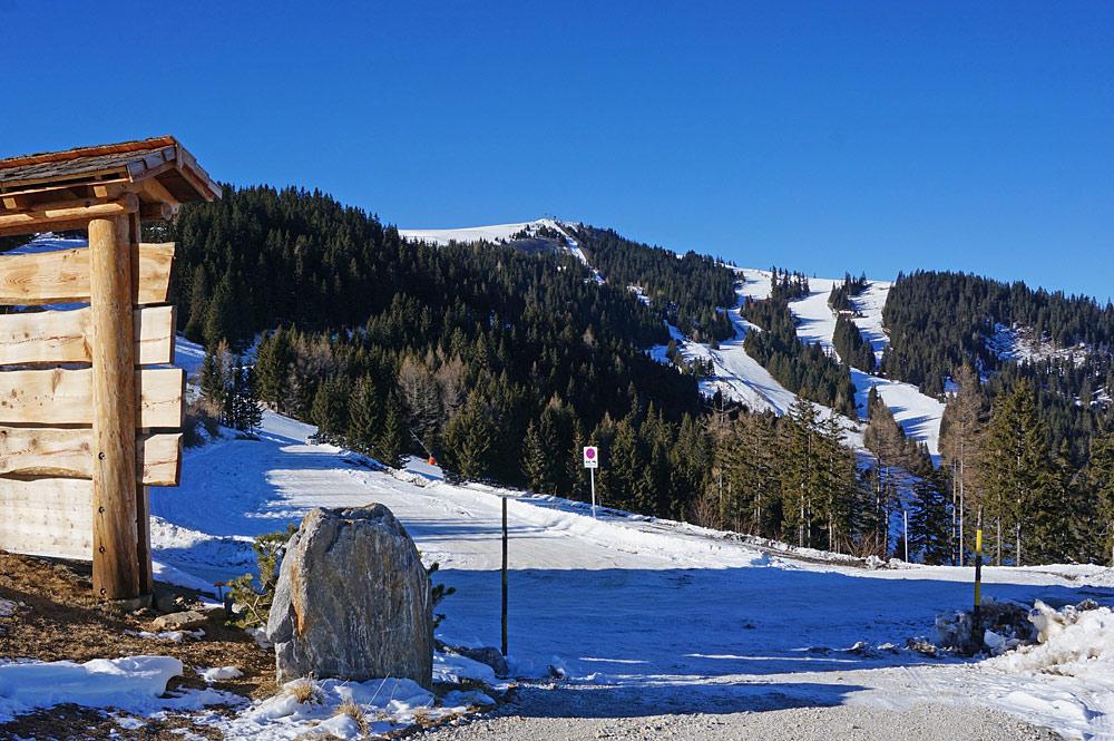 Blick ins Skigebiet Klippitztörl in Kärnten