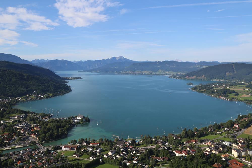 Luftbild vom Attersee