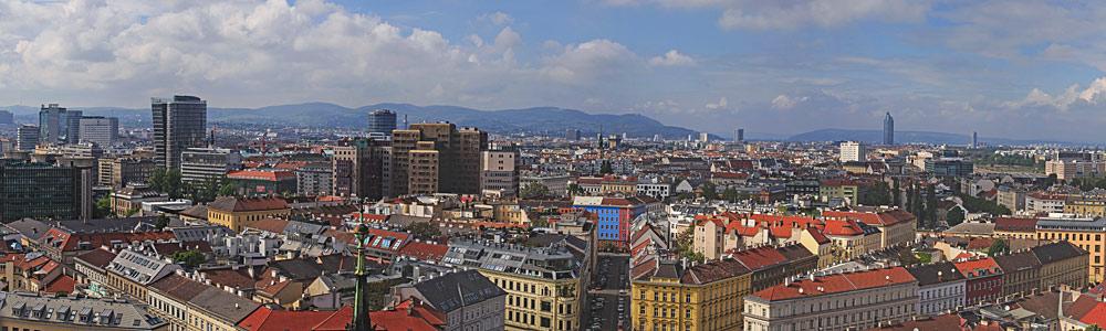 Panoramablick von St. Othmar auf Wien