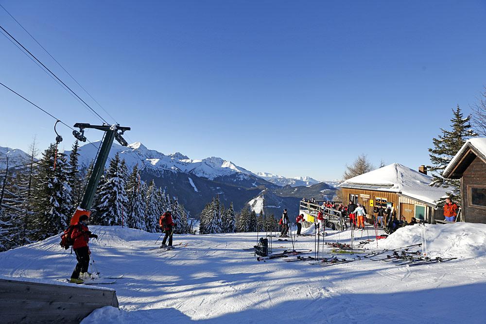 Bergstation im Skigebiet Hohentauern