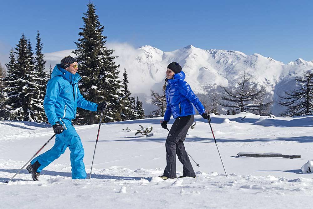 Winterwanderer im Skigebiet Rosskopf-Sterzing