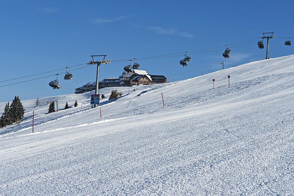 Lifte und Pisten im Skigebiet Gerlitzen