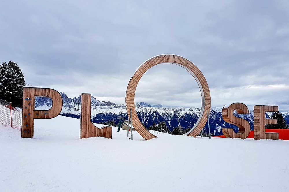 Schriftzug Plose auf der Plose bei Brixen