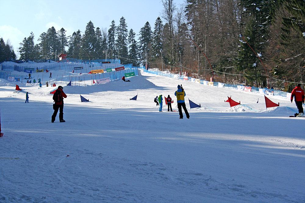 Piste im rumänischen Skigebiet Predeal