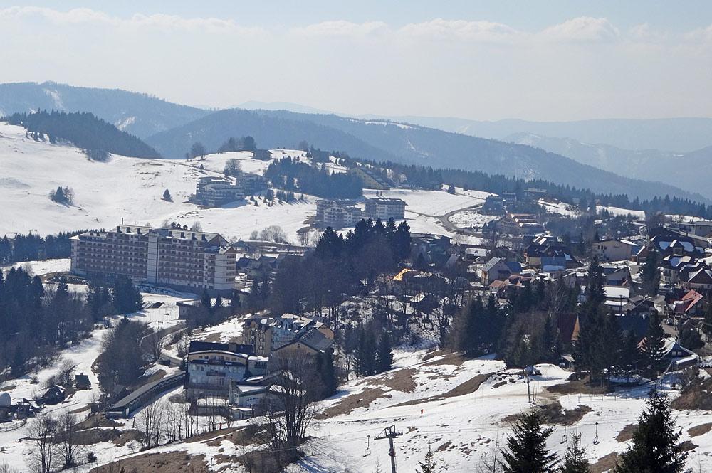Blick vom Berg auf Donovaly