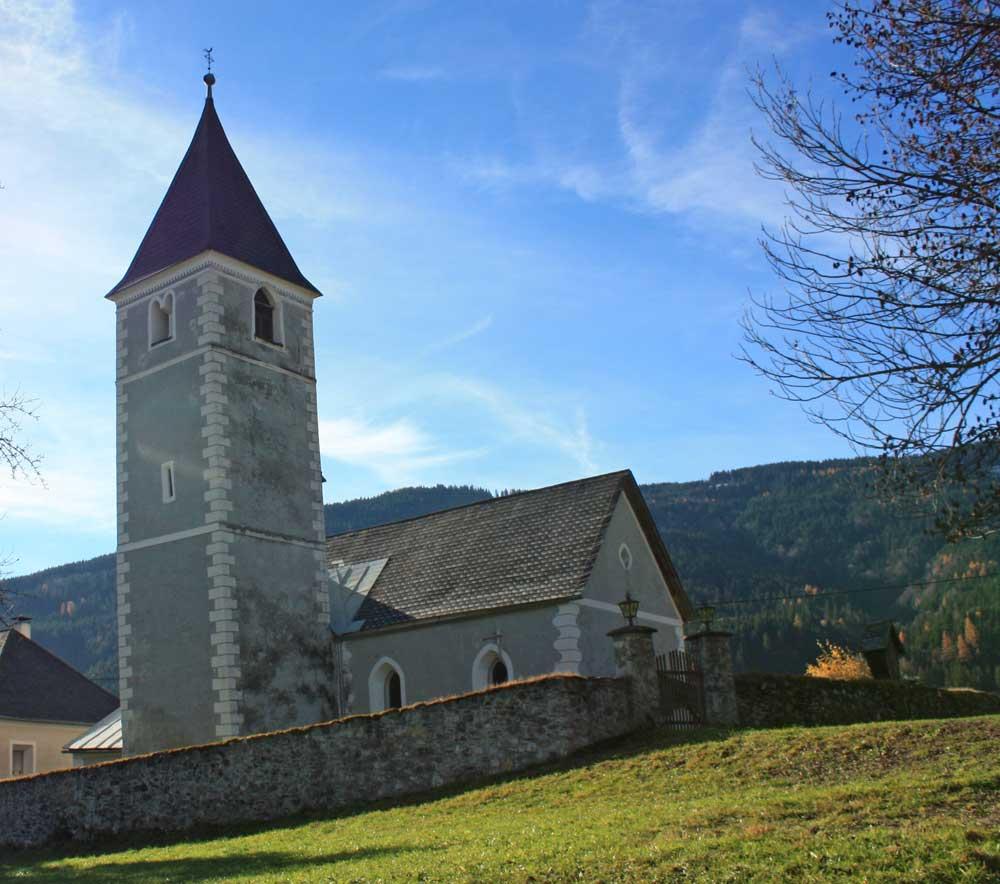 Katholische Kirche in Weißbriach im Gitschtal