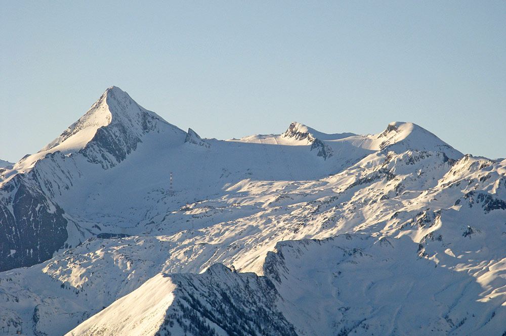 Blick auf das Skigebiet am Kitzsteinhorn