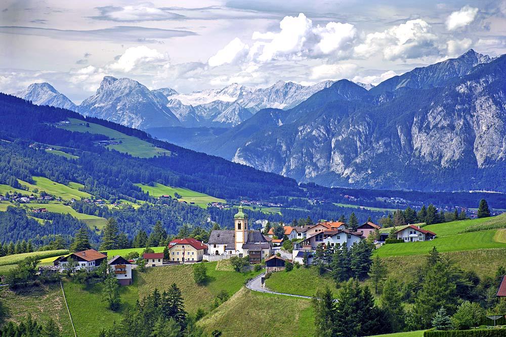 Blick auf die Gemeinde Ellbögen