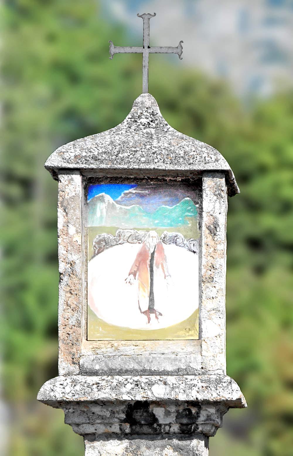Nahaufnahme eines Bildstocks in der Haller Straße in Rum bei Innsbruck
