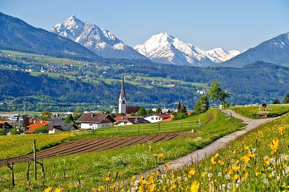 Blick auf die Gemeinde Rum bei Innsbruck