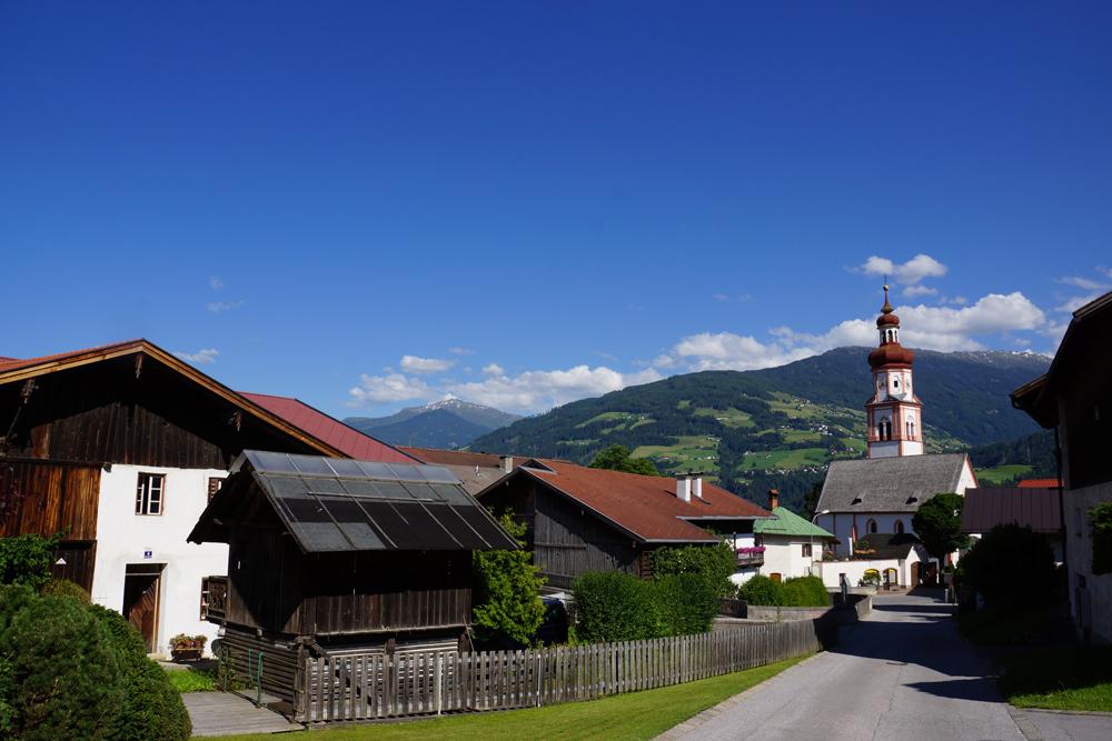 Blick auf Baumkirchen
